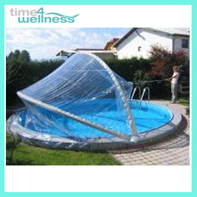 cabrio dome rund 5 5 m poolabdeckung pool schwimmbad ebay. Black Bedroom Furniture Sets. Home Design Ideas