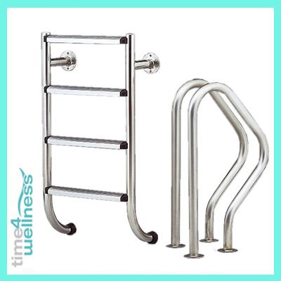 schwimmbadleiter poolleiter v4a edelstahl geteilt 4stf ebay. Black Bedroom Furniture Sets. Home Design Ideas
